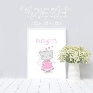 Fii drăguță cu tine! (.PDF A4 de imprimat și înrămat)